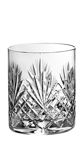 Barski - Set of 4 - Hand Cut - Mouth Blown - Crystal - DOF - Double Old Fashioned Tumblers - 14oz. - Made in Europe - Set of 4 - Four Old Double Fashioneds
