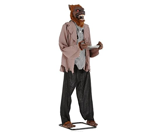 72 in. Animated Werewolf With Candy Tray Outdoor Halloween Holiday Yard Decor by Home Depot (Image #1)