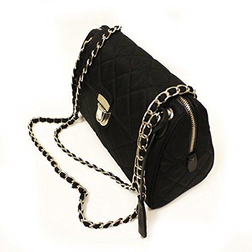 Prada Tessuto Impuntu Pattina Quilted Nylon Chain Shoulder Bag BR4965 9059c382ac872