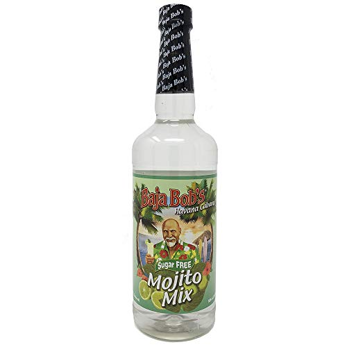 Baja Bob's MOJITO Mix - 32oz - Sugar Free Cocktail Mixer - Keto Friendly - Low Calorie - Low Carb - Each Bottle Makes 8 Skinny Cocktails