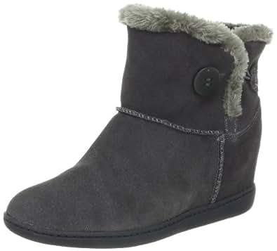 Skechers Women's Plus 3-Cozy Up Boot,Charcoal,5 M US