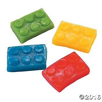 Brick Building Block Party Candy Color Gummy Bricks 1 lb