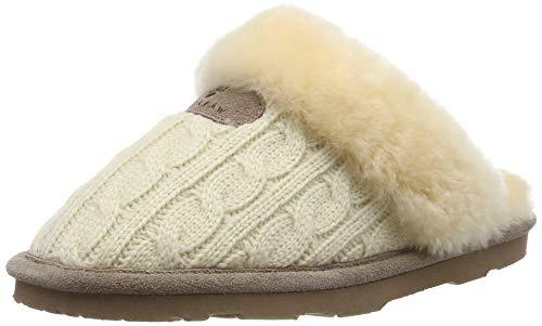 BEARPAW Women's Effie Slide Slipper, Linen, 8 M (Slippers Womens Bearpaw)