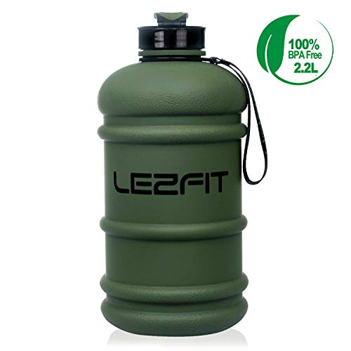 Large Water Bottle Lightweight Leak Proof Giant Big Water Bottle for Women Men Gym Fitness Athletic Outdoor Camping Hiking BPA Free Plastic Sports Water Jug