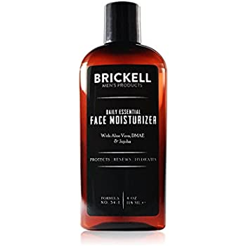 Brickell Men's Daily Essential Face Moisturizer for Men – Natural & Organic Face Lotion – 4 oz - Unscented