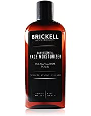 Brickell Men's Daily Essential Face Moisturizer for Men, Natural and Organic Fast-Absorbing Face Lotion with Hyaluronic Acid, Green Tea, and Jojoba, 4 Ounce, Unscented