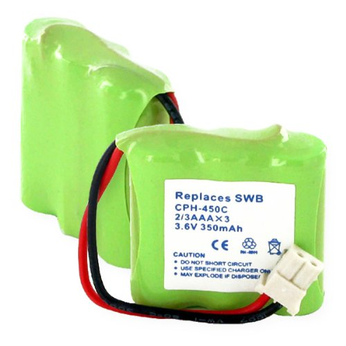 Replacement Battery For 1X3-2/3AAA/C CONNECTOR - NiMH 3.6V 270mAh S60530 Empire / e-batterystore CPH-450C