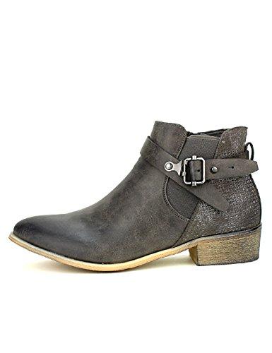 Gris Cendriyon Chaussures Grises Femme Bottines Moda Sperces 1nFXq