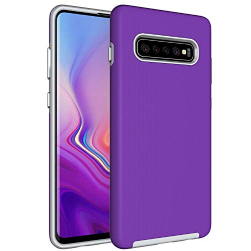 Price comparison product image Galaxy S10 Plus Case, Samsung S10 Plus Hybrid Defender Armor Case, Dual Layer Protective Phone Case, Full Body Rugged Case, Non-slip Drop Protection Shock Proof Case for Samsung Galaxy S10 Plus Purple