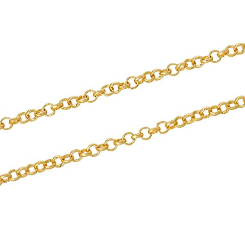 - 16 Feet Gold Plated Rollo Chain 3.75mm ODSF-10189