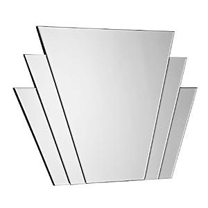 Premier housewares art deco fan wall mirror 70 x 100 x 2 for Miroir 70 x 100