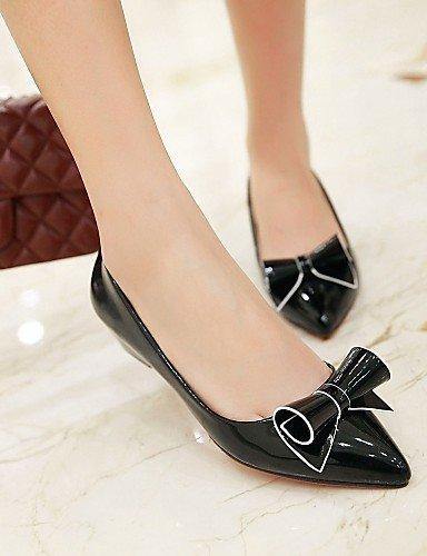 Toe de de Pisos sintética punta zapatos carrera blanco aire rosa libre negro black bajo PDX y oficina mujer eu35 al piel cn34 casual rojo tacón uk3 us5 zqwEcdv