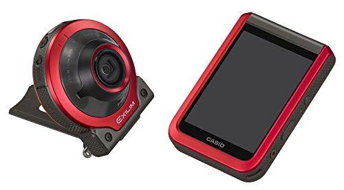 CASIO デジタルカメラ EXILIM EX-FR100RD カメラ部/モニター部分離 フリースタイルカメラ EXFR100 レッド