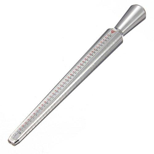 Standard Tool Ring Finger Sizing Measure Stick Ring Sizer Mandrel Metal