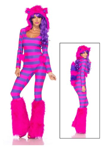 [Leg Avenue Womens Sexy Cheshire Cat Costume Medium / Large] (Cheshire Cat Costumes For Women)