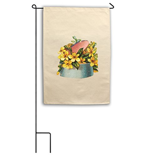 "Style in Print Canvas Yard House Garden Flag 18""X27"" Yellow"