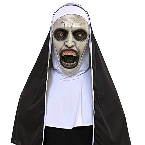 Scary Nun Mask,Lovewe Cosplay Scary Horrible Nun Mask Melting Face Latex Costume Halloween Masquerade ()