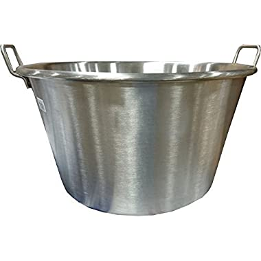 Bioexcel Cazos Para Carnitas Stainless steel Cooking Wok size 16 , 20  & 24  - Cazos Mexicanos Heavy Duty Pot, (Diameter 20  / Depth 12 )