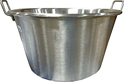 Bioexcel Cazos Para Carnitas Cooking Wok - Cazos Mexicanos Heavy Duty Stainless Steel Pot - Choose Many Sizes - This One is (Diameter 32