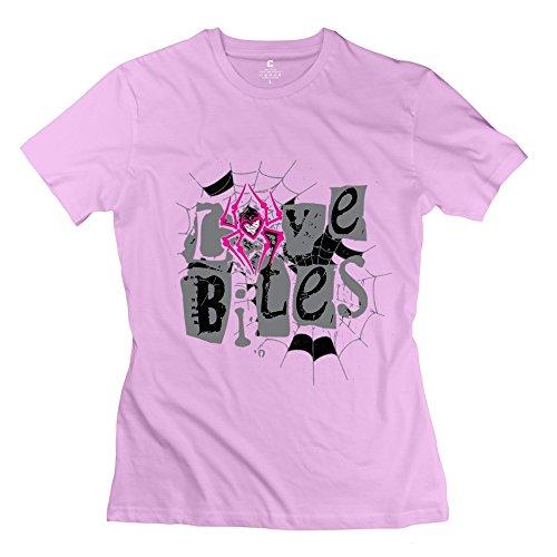 PTCY Women's Personalized T-shirt Cool WWE Aj Lee Love Bites M Pink