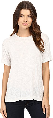 Bench Women's Savage Short Sleeve Tee Shirt Pale Grey Marl T-Shirt LG