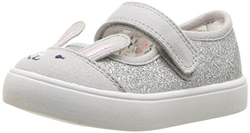 carter's Girls' Genna Mary Jane Flat, Grey, 5 M US Toddler