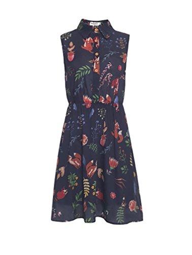 LaVieLente Customized Sleeveless Shirt Sloth Dress Fox Dress Dog Dress Stretchable Waist Design (Navy, X-Small/Small)