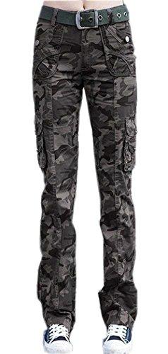 Tasche Militari Primaverile Pants Con Eleganti Donna In Pantaloni Abbottonatura Autunno Moda Grazioso Button Vita Esercito Giovane Pantalone Tuta Accogliente Tarnung 1wqSxvxf