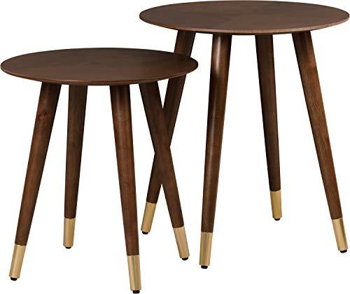 Elle Decor FUST10071A Yvonne Nesting Table Set Walnut