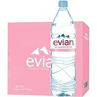 依云(evian) 天然矿泉水 1.5L*12瓶 (18年08月27号生产)法国原装进口
