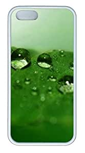 Green drops of water TPU White indestructible iphone 5S covers for Apple iphone 6 by supermalls