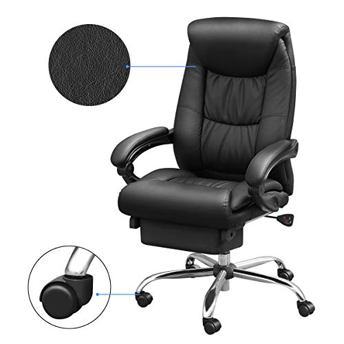 Duramont Reclining Office Chair with Lumbar Support - High Back Executive Chair - Thick Seat Cushion - Ergonomic Adjustable Seat Height and Back Recline - Desk and Task Chair by Duramont (Image #1)