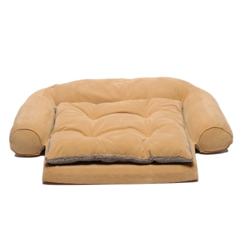 (CPC Ortho Sleeper  Large Comfort Couch with Removable Cushion, Caramel)
