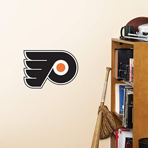FATHEAD NHL Philadelphia Flyers - Logo Teammate- Officially Licensed Removable Wall Decal, Multicolor, Big