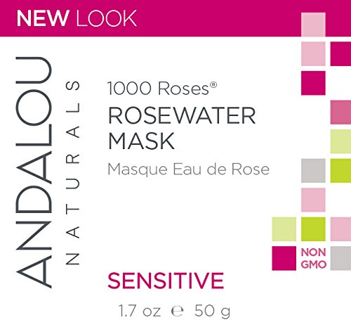 41klgvSdPVL Andalou Naturals 1000 Roses Rosewater Mask, 1.7 Ounce, For Sensitive, Dry, Delicate or Easily Irritated Skin, Soothes & Calms