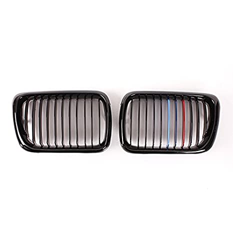 audew Grille rejilla de riñón Color Negro Brillante color M para BMW E36 97 - 99: Amazon.es: Coche y moto