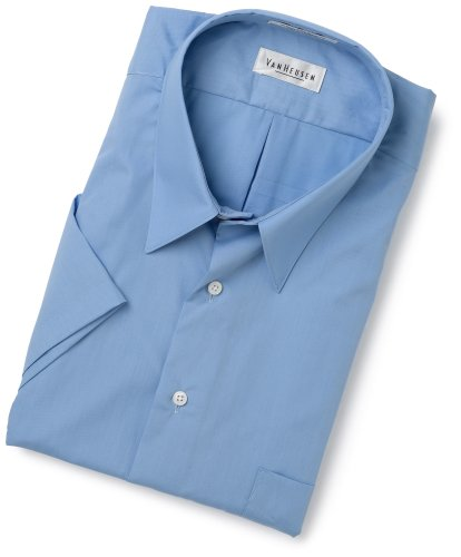 Van Heusen Men's Tall Wrinkle Free Poplin Short Sleeve Shirt