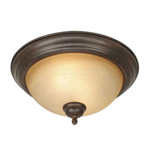 Riverton Pendant Finish - Golden Lighting 1567-13 PC Riverton Flush Mount, Peppercorn Finish