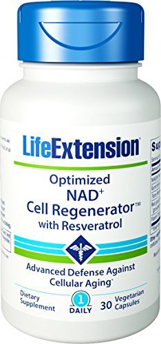 Life Extension Optimized NAD Cell Regenerator With Resveratrol, 30 Vegetarian Capsules