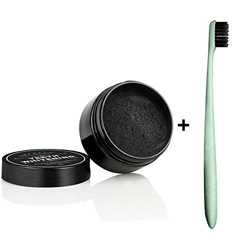 Price comparison product image Aptoco Natural Teeth Whitening Powde with Charcoal Safe Effective Tooth Whitener (30g+Toothbrush)