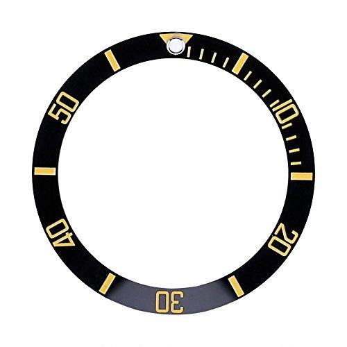 (VGEBY Watch Bezel Insert, Ceramic Wristwatch Bezel Insert Loop Replacement Part Watch Accessories(Gold))