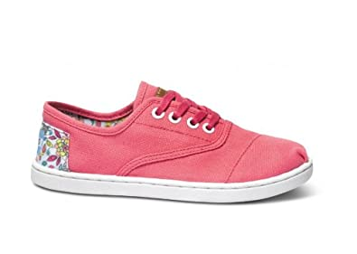 TOMS Pink Inked Heel Patch Youth Cordones 10001285 (SIZE: 5.5K)