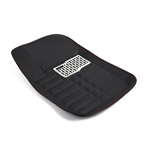 Sedeta 5pcs Universal Car Auto Floor Mats FloorLiner Front Rear Carpet cleaner All Weather Mat by Sedeta (Image #4)
