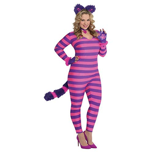 (Adult Lady Cheshire Kitty Cat Costume - Plus XXL (18-20) | 2)