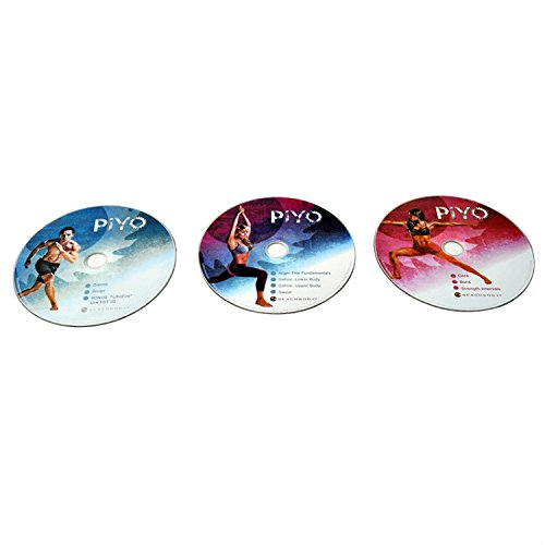 Chalene Johnson PiYo 5 DVDs Workout with Exercise Videos + Fitness Tools and Nutrition Guide