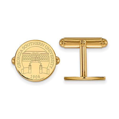 Georgia Southern Crest Disc Cuff Links (14k Yellow Gold) by LogoArt