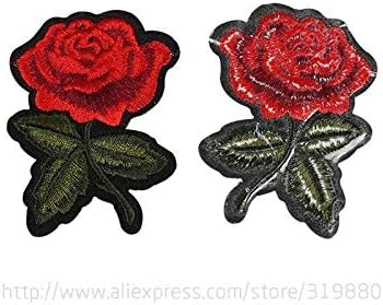 20Pcs Rose Patch Patchwork Needlework Sewing Patches Iron on Handmade DIY Craft Embroidered Embroidery Appliques Sew Stickers for Clothing Dress Garment Sewing Fabric Cloth Bags