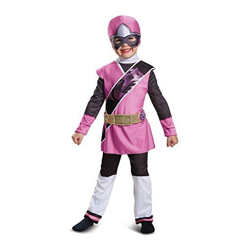 Baby Girl Power Ranger Costume (Power Rangers Ninja Steel Deluxe Toddler Costume, Pink, Small (2T))