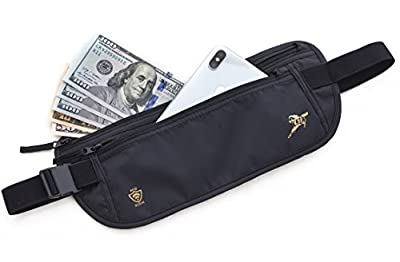KANAZAWA Water Resistant RFID Money Belt For Travel Fanny Pack Pouch Waist Wallet Bum Bag With Pockets For Visa Money Cash ID Secure