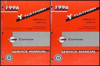 1996 Chevrolet Corvette Repair Shop Manual Original 2 Volume Set